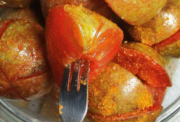 酸辣三华李腌制方法_三华李腌制的辣椒水窍门